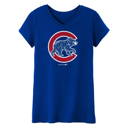 - MLB Chicago CUBS TEE Short Sleeve Girls 50% Cotton 50% Polyester Team Color 7 - 16
