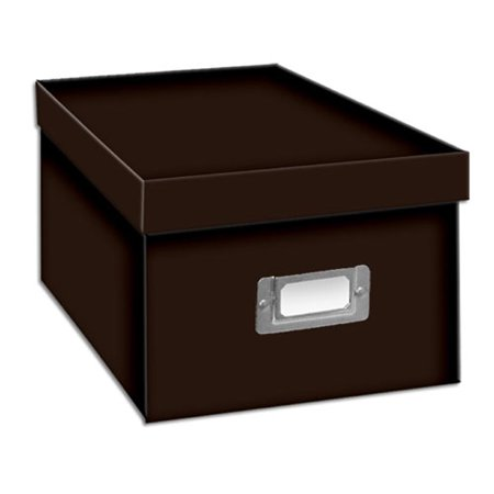 - Pioneer Photo CD/DVD Storage Box (Solid Colors) Brown
