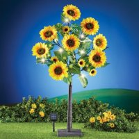 Solar Sunflower Tree with Adjustable Branches