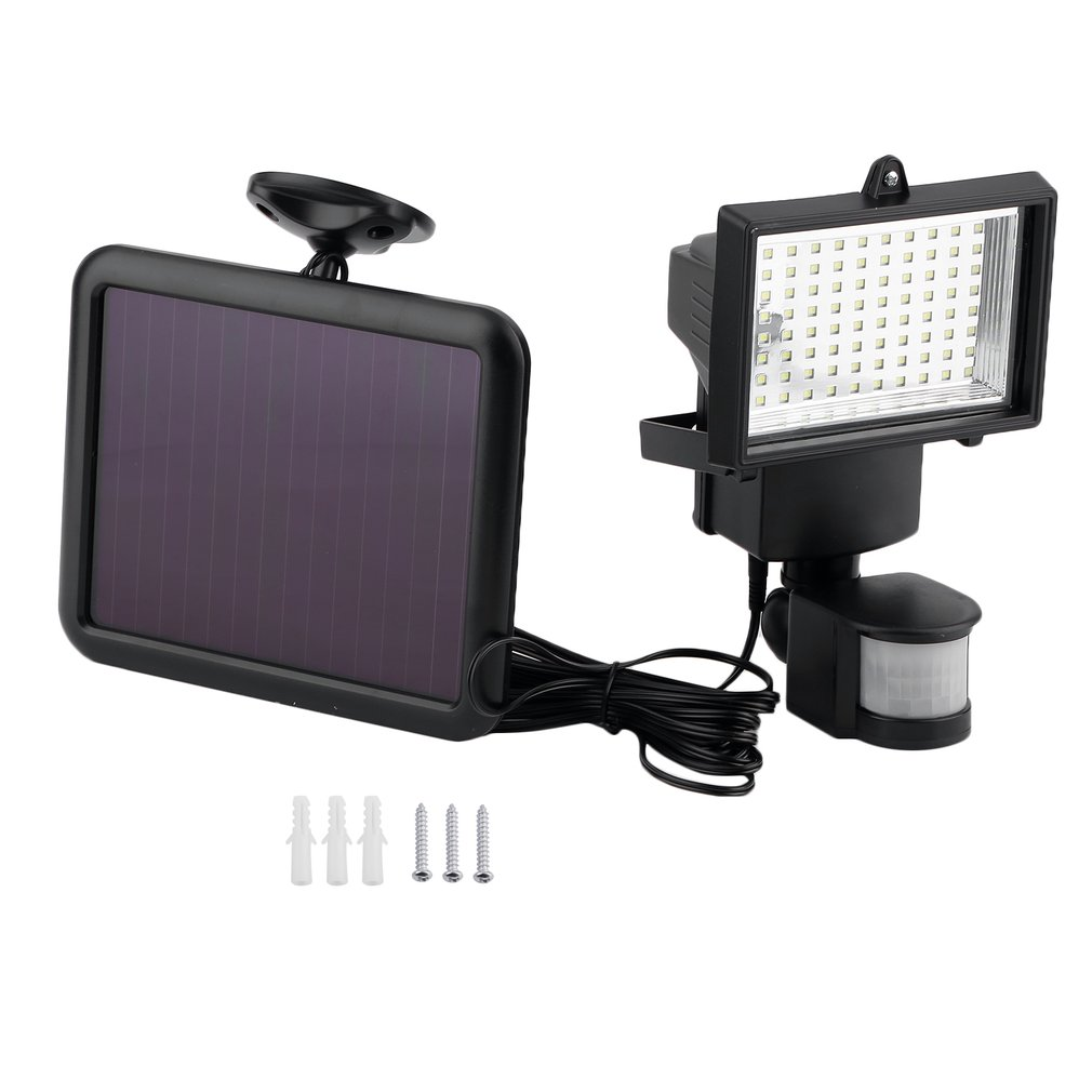 Solar Powered Security Light With Motion Sensor 80 LED Waterproof Flood Light