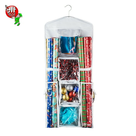 Gift Bag Organizer (Elf Stor | Deluxe | Hanging Gift Wrap and Bag)