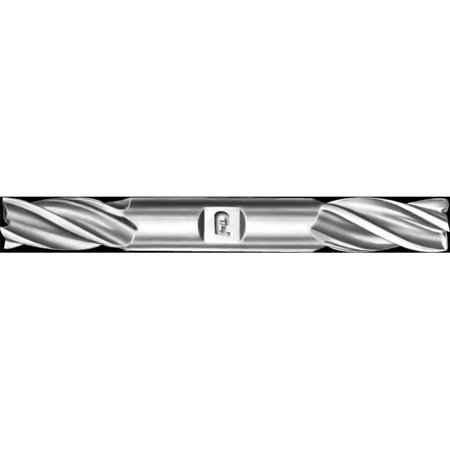 Double End Right Hand Four Flute Endmill, High Speed Steel - 0.781 dia. x 0.875 Shank dia. x 1.875 Flute Length x 6.25 OAL (0.875 Double Flute)