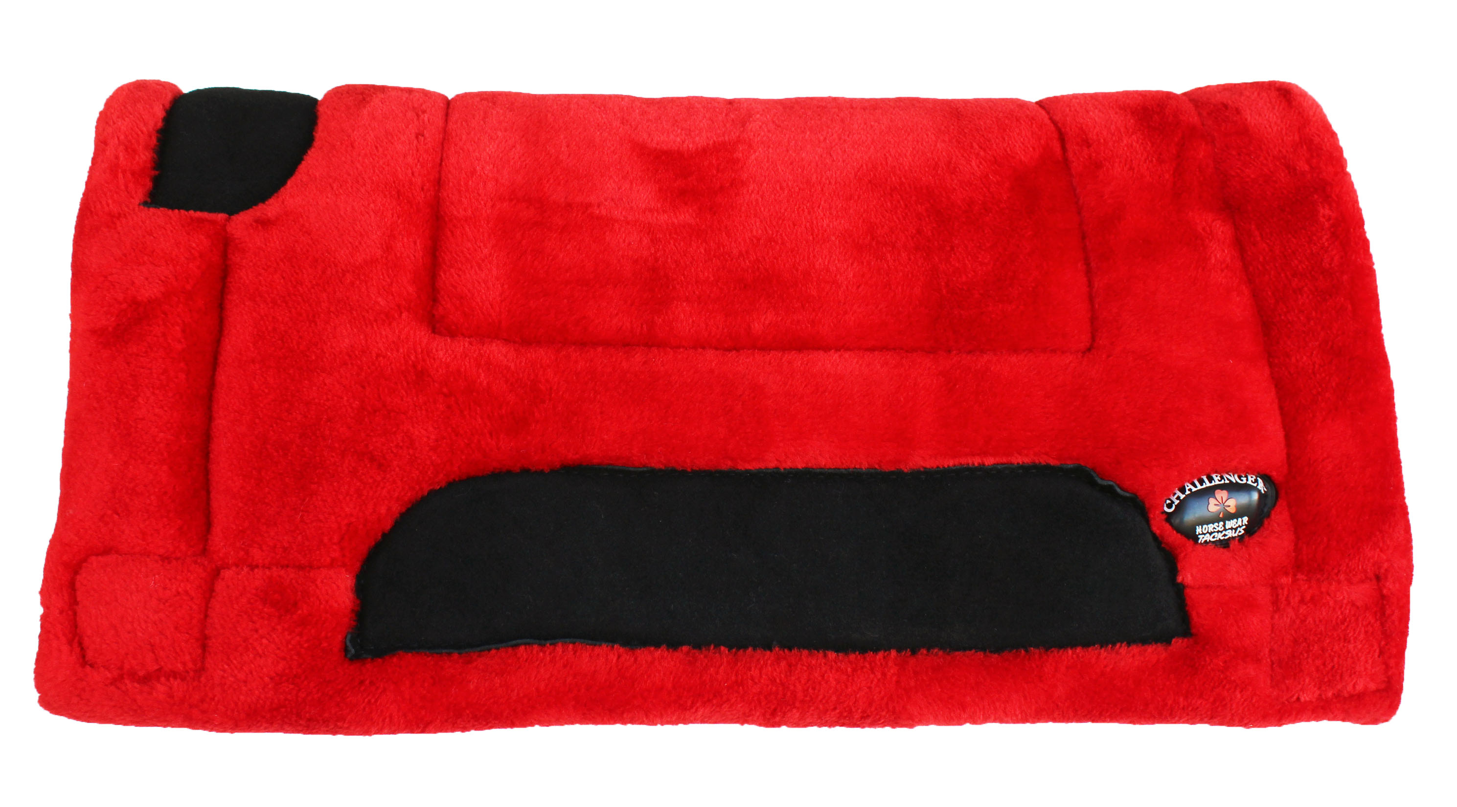 """Horse SADDLE PAD 24/""""X21/"""" Western Double Fleece Pony RED Rodeo Tack 39132RD"""