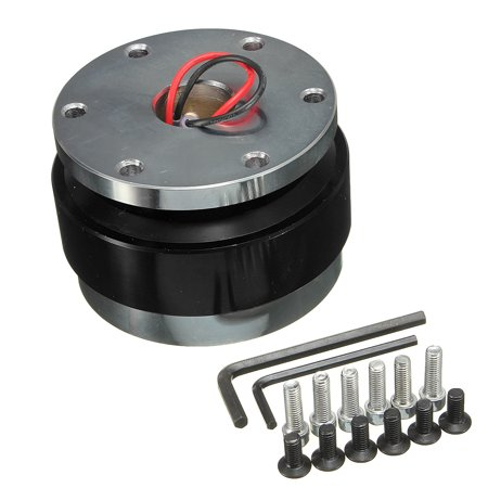 Universal Car Steering Wheel Quick Release Hub Adapter Snap Off Boss Kit SUV Van Auto Vehicle Aluminum 6 Hole US