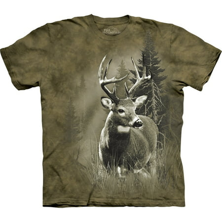 Tan 100% Cotton Lone Buck Graphic Novelty T-Shirt