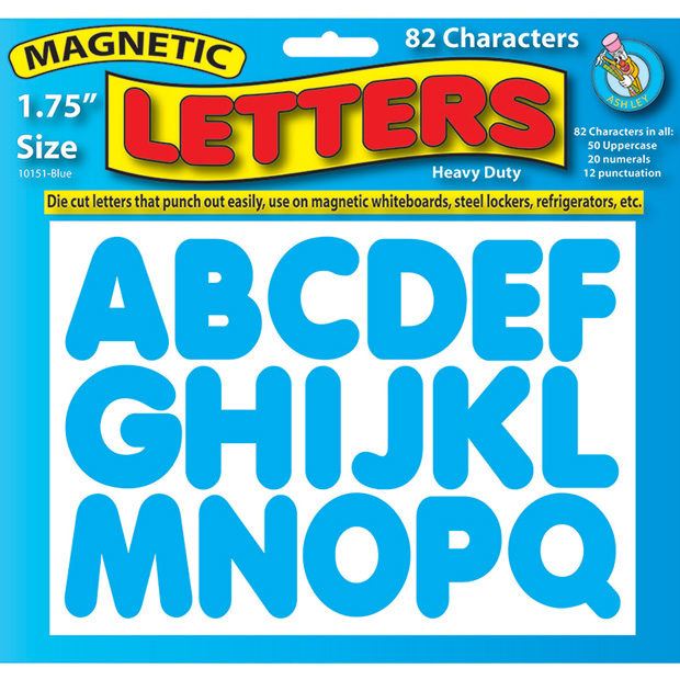 Magnetic Letters Blue 1.75""