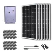 Renogy Premium Solar Panel Kit 600W Monocrystalline Off Grid: 6pc 100W Mono solar panel UL Listed+ 40A MPPT Charge Cont