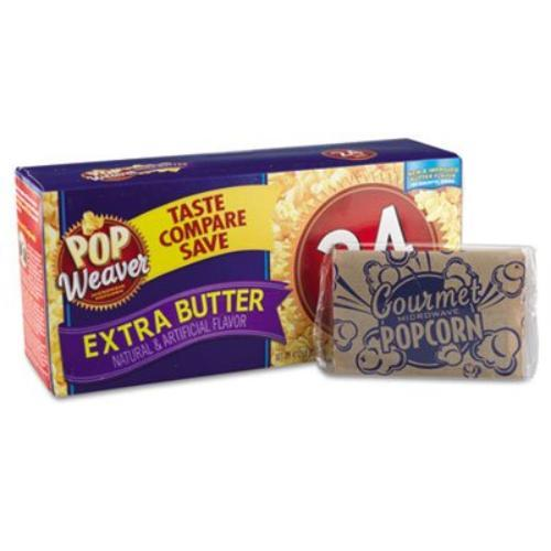 Office Snax Pop Weaver Extrabutter Micrwv Popcorn - Microwavable - Extra Butter - Packet - 2.50 Oz - 22 / Box (ofx-105512)