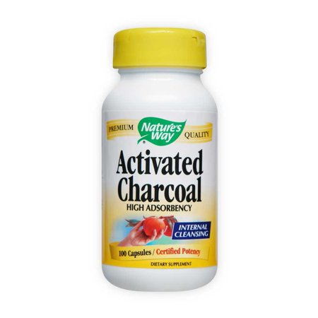 Nature's Way Activated Charcoal Capsules, 100 - 100 Way Green