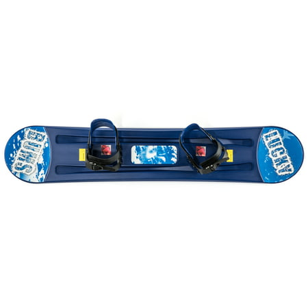Lucky Bums Kids Boys Girls Youth Training Plastic Snowboard, 120cm, Blue ()
