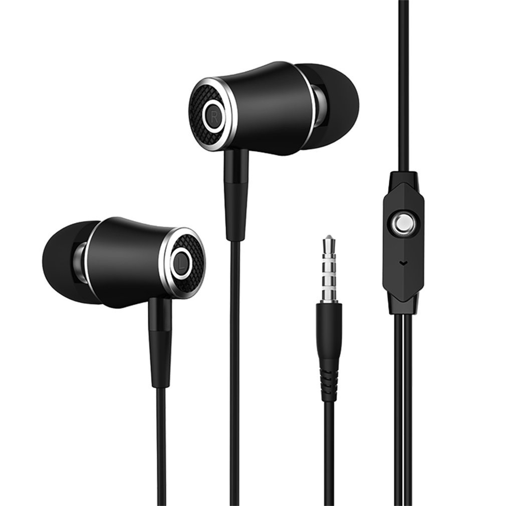 3.5mm In-Ear Universal Earphone Headset with Microphone Bass & Microphone