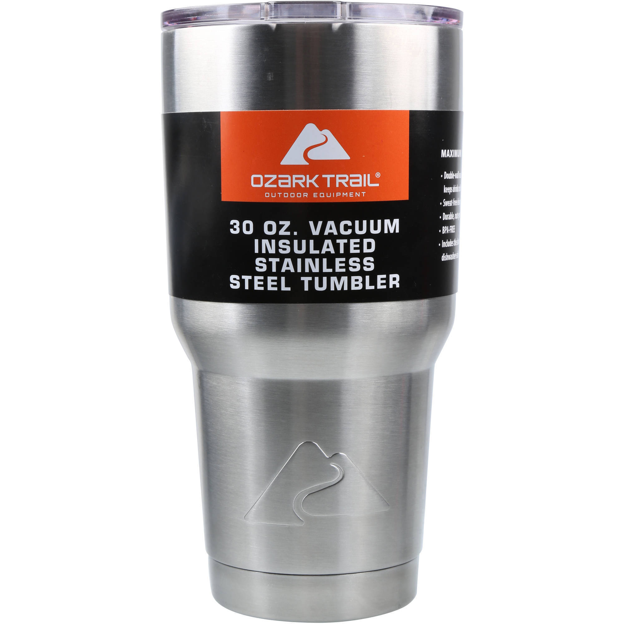 =Ozark Trail 30-Ounce Double-Wall, Vacuum-Sealed Tumbler - Stainless Steel