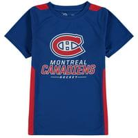Montreal Canadiens Fanatics Branded Youth Lockup Poly Colorblock T-Shirt - Royal