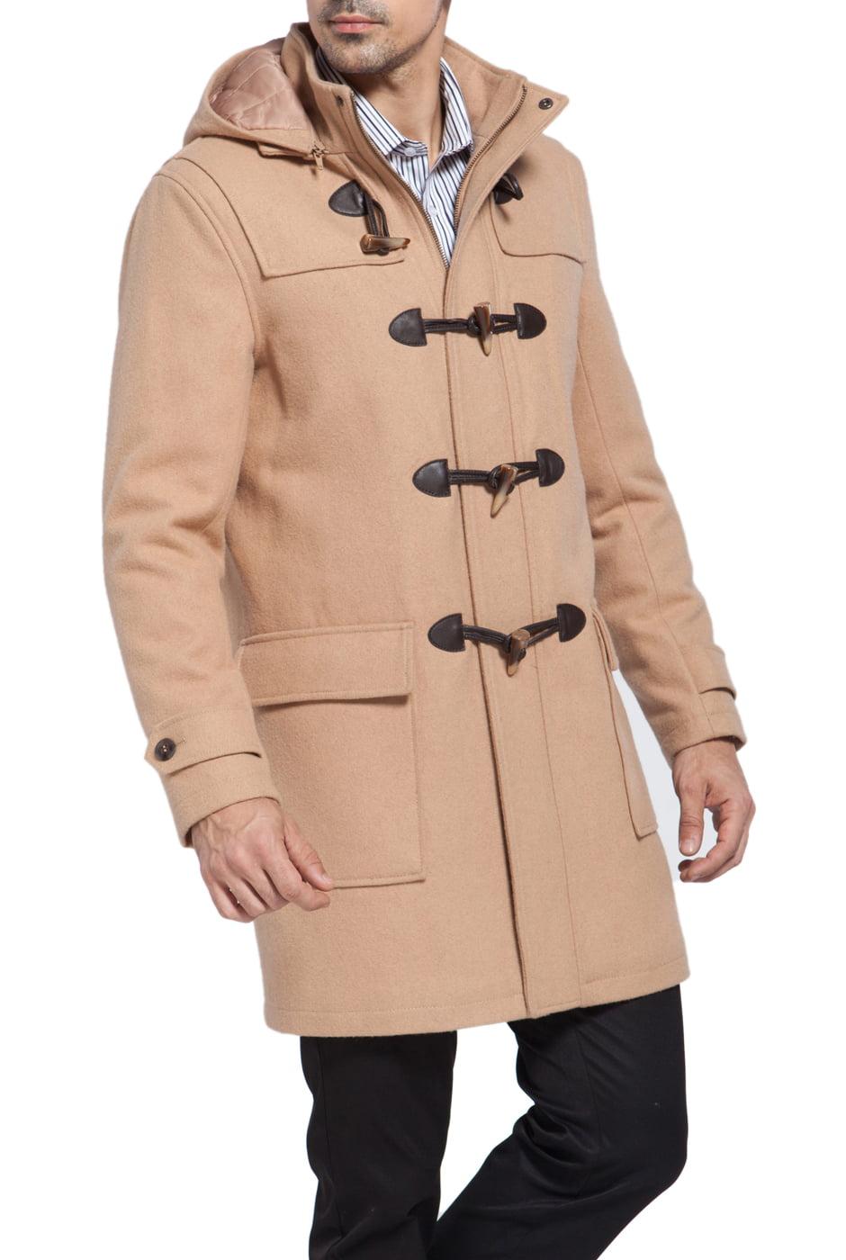 BGSD Men's 'Benjamin' Wool Blend Classic Duffle Coat - Walmart.com