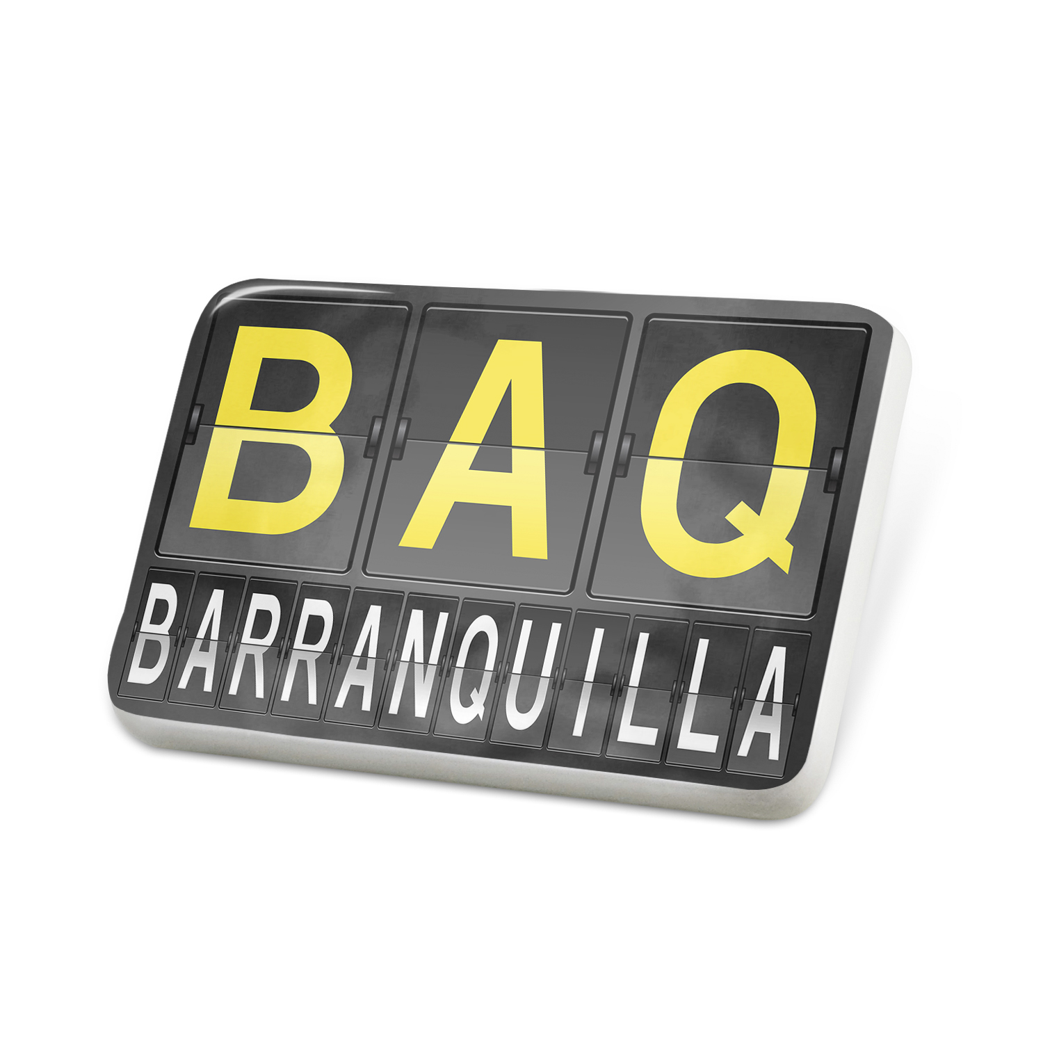 Porcelein Pin BAQ Airport Code for Barranquilla Lapel Badge – NEONBLOND