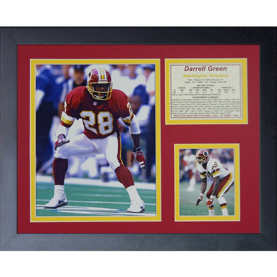 Darrell Green Framed Photo Collage, 11x14, by Legends Never Die