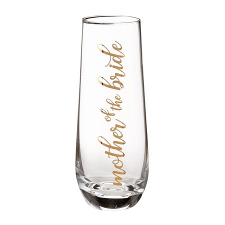 Toasting Flutes For Wedding (Lillian Rose Mother of Bride Stemless Champagne Glass and Wedding Toasting)