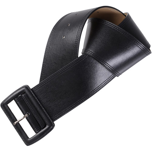 Brinley Co Womens Topstitched Wide Leather Belt