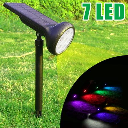 Waterproof Solar 7 LED Colorful Outdoor Garden Lawn Landscape Spotlight Spot Light  Lamp Path
