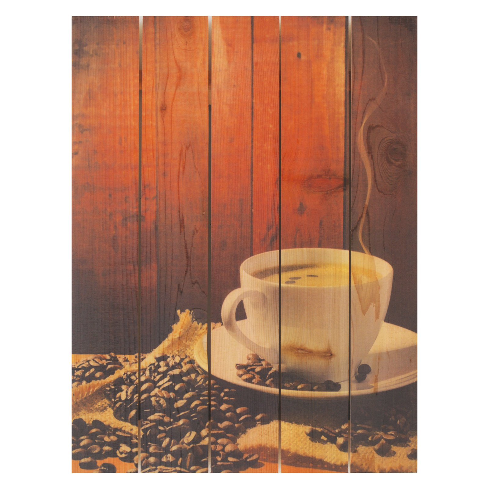 Gizaun Art Morning Joe Inside/Outside Full Color Cedar Wall Art