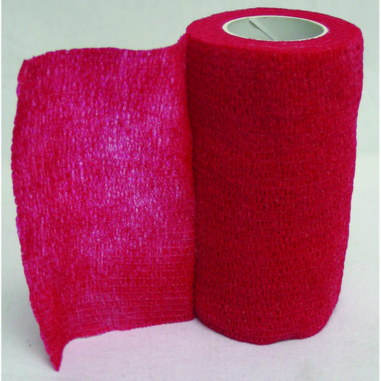 "Animal Supplies International Wrap-It-Up Flexible Bandage, 4"" x 5 yd, Red"