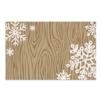 Rustic Snowflakes Enclosure Cards / Gift Tags - 3 1/2in. x 2 1/4in. - 50 Pack