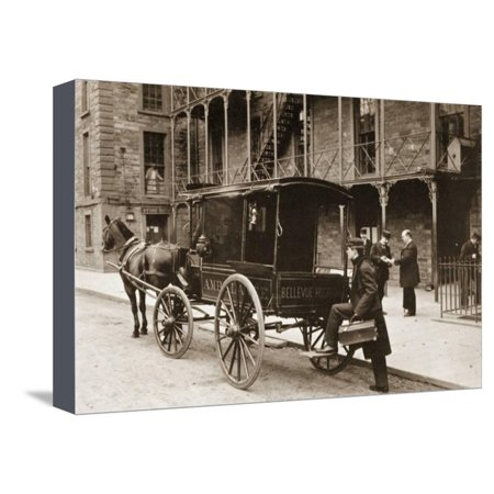 An Ambulance at Bellevue Hospital, New York City, 1896 Stretched Canvas Print Wall Art](Party City Bellevue)