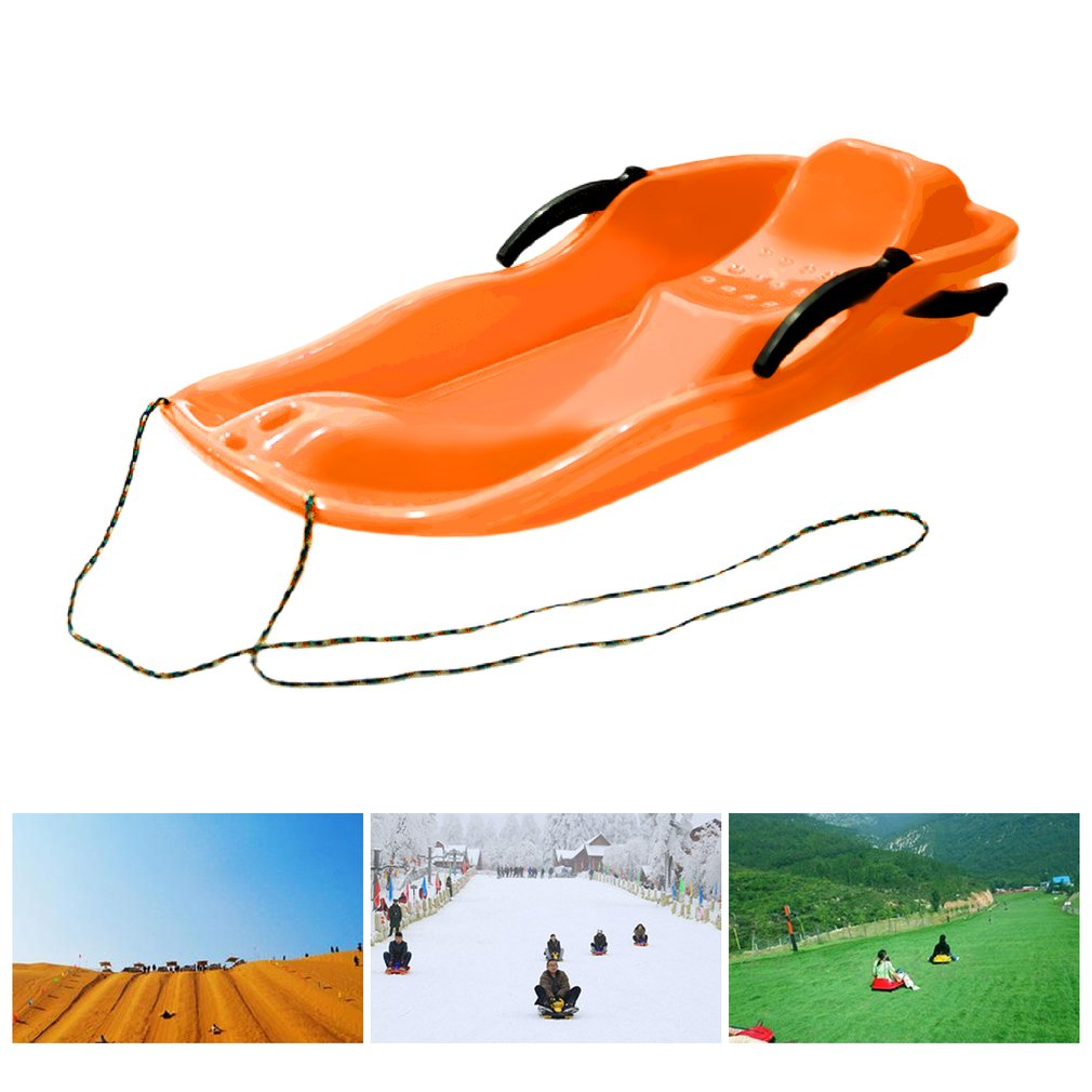 Outdoor Sports Plastic Snow Sleds Snow Slider Sled Snowboard Sled With Rope For Double People by