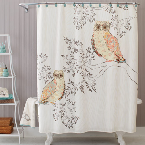 Better Homes and Gardens Owl Shower Curtain Walmartcom