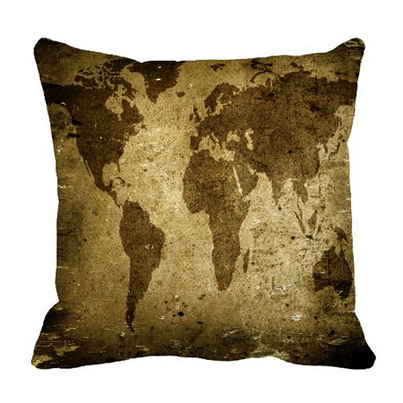 - PHFZK Vintage Pillow Case, Ancient World Map Pillowcase Throw Pillow Cushion Cover Two Sides Size 18x18 inches