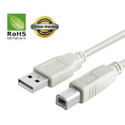 USB 2.0 Cable - A-Male to B-Male for Provo Craft Cricut cutting machine (Specific Models Only) - 3 FT/10 PACK/IVORY
