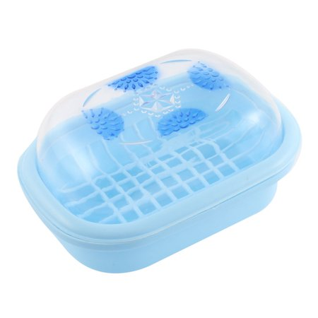 Plastic clear cover bathroom soap box holder case for Clear bathroom containers