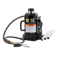 Omega 18302C Black Hydraulic Bottle Jack - 30 Ton Capacity