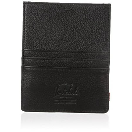 Herschel Supply Co. Eugene Passport Holder, Black Pebbled Leather, One Size