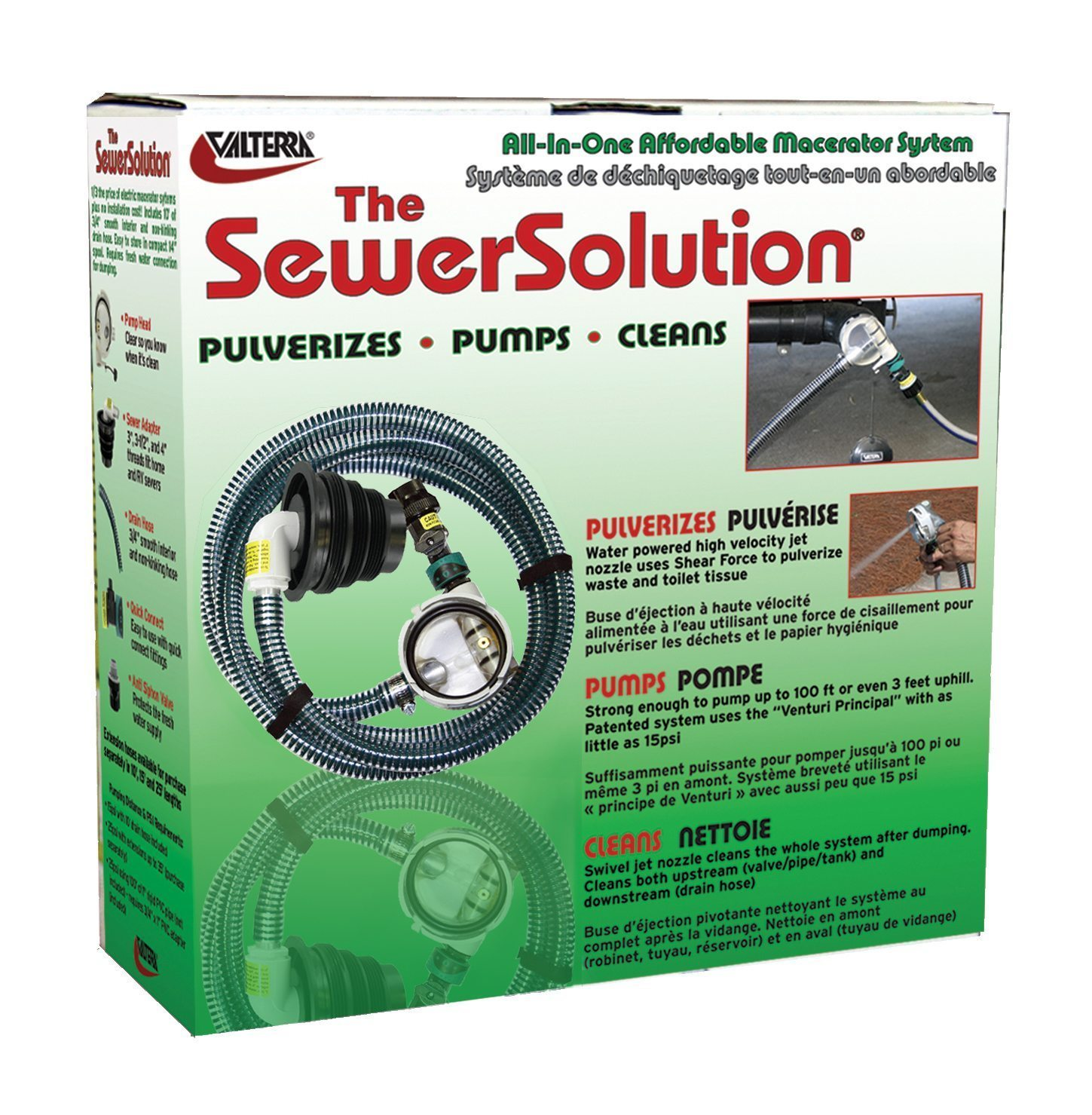 Valterra SS01 The SewerSolution System & RV Waste Water Powered Jet Pump Kit