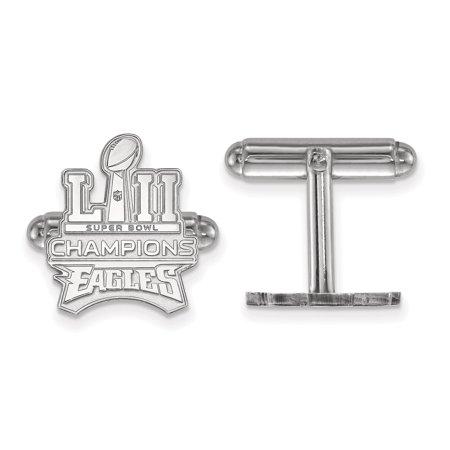Philadelphia Phillies Cufflinks - Philadelphia Eagles Super Bowl LII Champions Sterling Silver Main Cufflink Set - Silver - No Size