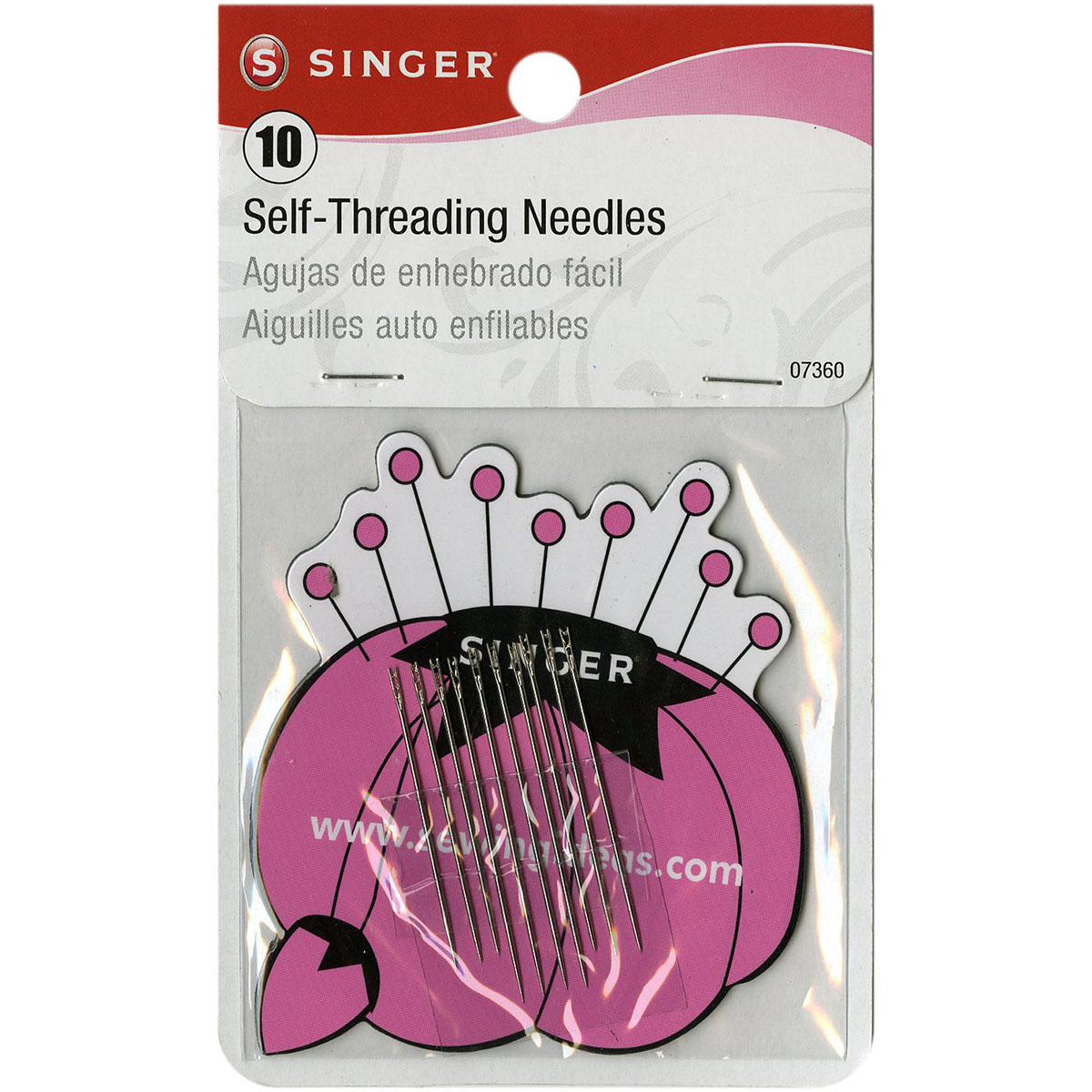 Singer Self-Threading Needles W/Storage Magnet-Size 1/3 10/Pkg