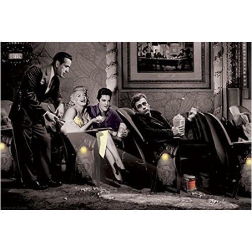 Interlude With James Dean Marilyn Monroe Elvis Presley And Humphrey Bogart By Chris Consani 36x24 Art