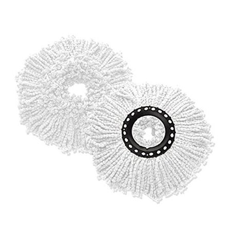 2 Pack Microfiber Replacement Spin Mop Head Refill For Magic 360   Deluxe   Hurricane