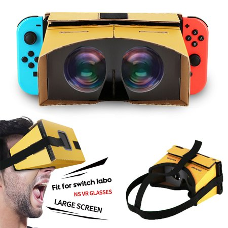 TSV DIY Cardboard VR Accessories Fit For Nintendo Switch LABO VR, Come with Headset Strap](Cardboard For Sale)