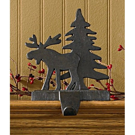 Moose and Tree Stocking Holder - Iron Finish, Decorate you fireplace mantle with a new Stocking holder. By Park Designs ()