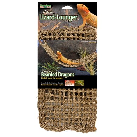 Lizard Lounger, 100% Natural Seagrass Fibers for Anoles, Bearded Dragons, Geckos, Iguanas, and Hermit Crabs Rectangular 7 x 29 Inches,.., By Penn (Iguana Bearded Dragon)