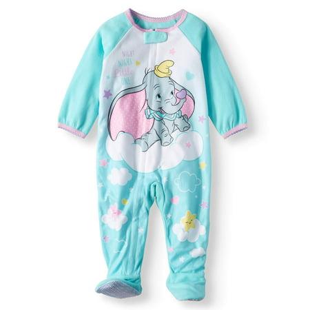 d0e992453454 Microfleece Footed Blanket Sleeper (Baby Girls) - Walmart.com