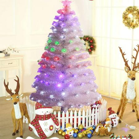 premium led fiber optic christmas tree four color changing artificial chrismas tree decorations for home hotelswhite15m - Led Fiber Optic Christmas Tree