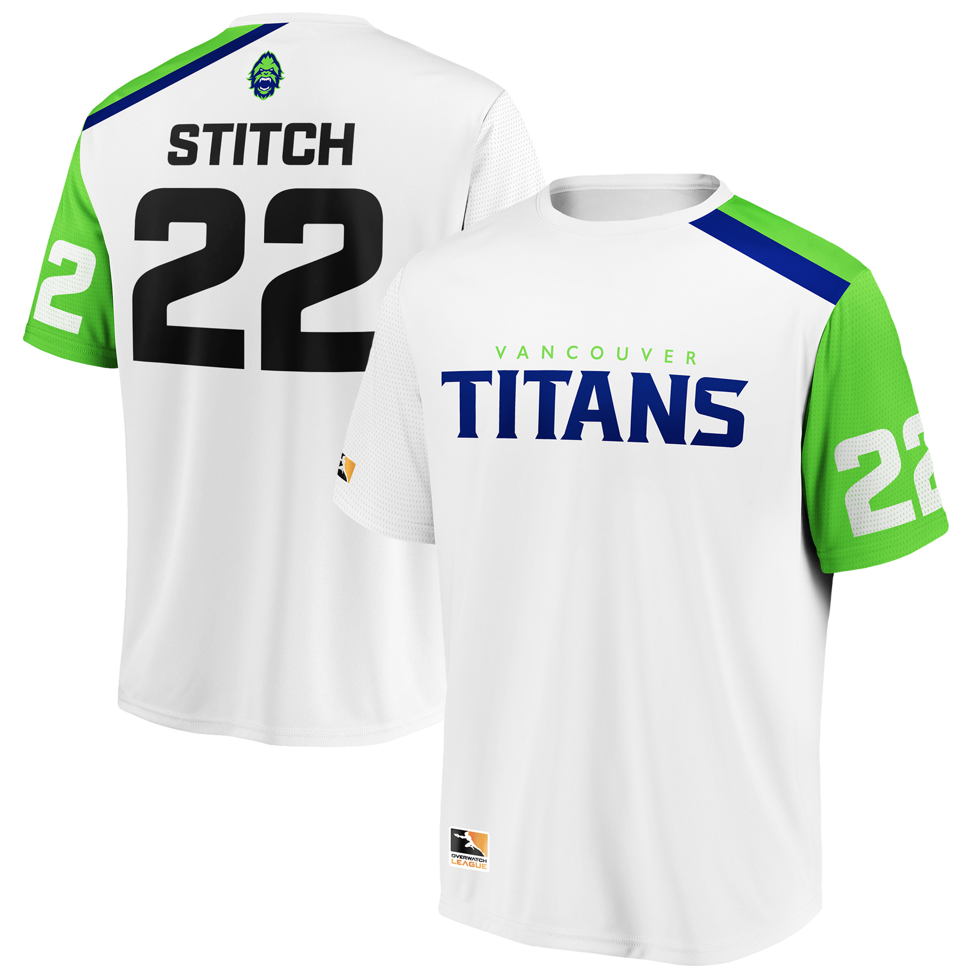 Stitch Vancouver Titans Overwatch League Replica Away Jersey - White
