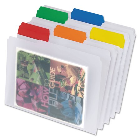 Pendaflex Poly File Folders  1 3 Cut Top Tab  Letter  Clear  25 Box
