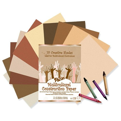 "Pacon Multicultural Construction Paper - 12"" X 9"" - Assorted (PAC9509)"