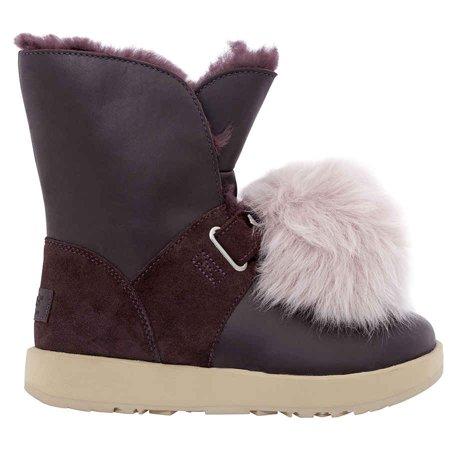 UGG Isley Waterproof Pom Pom Boots- Port/ Size 6 ()