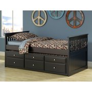 Bernards Captains Bed with Trundle- Black