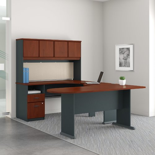 Bush Business Furniture Series A U Shaped Desk Office Suite